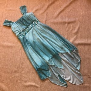 Girls Turquoise Ombré Dress